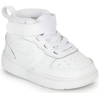 Shoes Children High top trainers Nike COURT BOROUGH MID 2 TD White