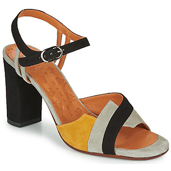 Shoes Women Sandals Chie Mihara BEGA Black / Grey / Yellow