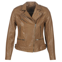 material Women Leather jackets / Imitation le Naf Naf CHAO Cognac