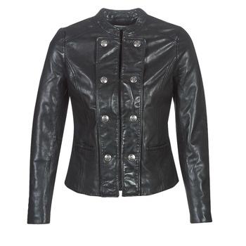 material Women Leather jackets / Imitation le Naf Naf CMILI Black