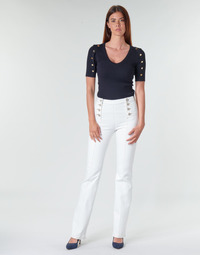 material Women 5-pocket trousers Morgan PIXIE White