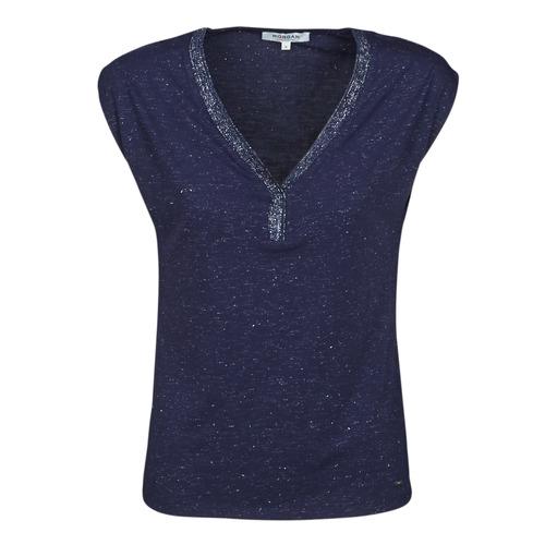 material Women short-sleeved t-shirts Morgan DMAYA Marine