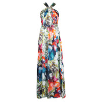 material Women Long Dresses Marciano SUPERBLOOM GOWN Multicolour