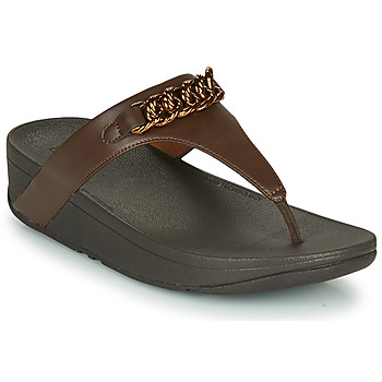 Shoes Women Flip flops FitFlop LOTTIE CHAIN TOE-THONGS Brown