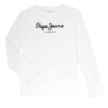 material Boy Long sleeved shirts Pepe jeans NEW HERMANN White