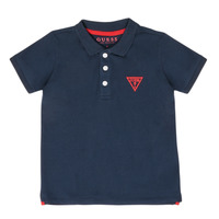 material Boy short-sleeved polo shirts Guess HOUSSI Marine