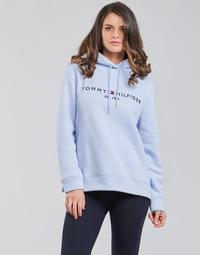 material Women sweaters Tommy Hilfiger TH ESS HILFIGER HOODIE LS Blue / Sky