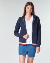 material Women sweaters Tommy Hilfiger HERITAGE ZIP THROUGH HOODIE Marine
