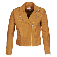 material Women Leather jackets / Imitation le Betty London MOSTILI Cognac