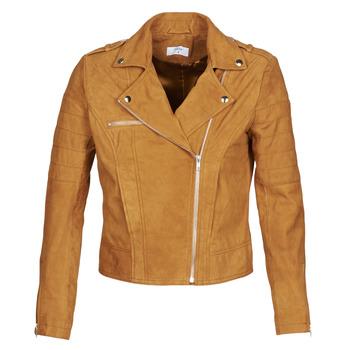 material Women Leather jackets / Imitation le Betty London MARILINE Cognac