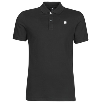 material Men short-sleeved polo shirts G-Star Raw DUNDA SLIM POLO SS Black