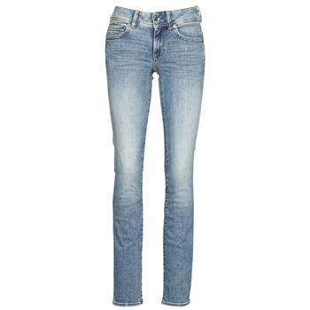 material Women straight jeans G-Star Raw MIDGE MID STRAIGHT WMN Blue