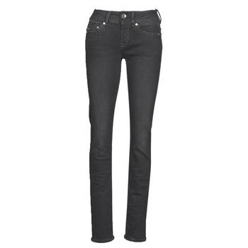 material Women straight jeans G-Star Raw Midge Mid Straight Wmn Grey / Dark