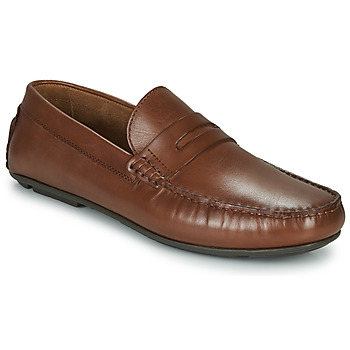 Shoes Men Loafers André SLOTI Cognac