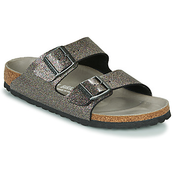 Shoes Women Mules Birkenstock ARIZONA Black / Silver