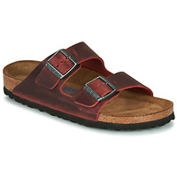 Shoes Women Mules Birkenstock ARIZONA SFB LEATHER Bordeaux