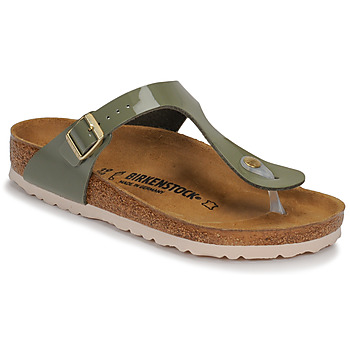 Shoes Women Flip flops Birkenstock GIZEH Varnish / Kaki