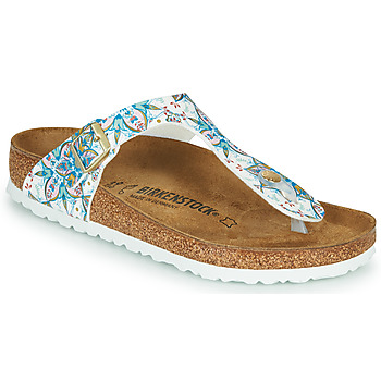 Shoes Women Flip flops Birkenstock GIZEH White / Multicolour