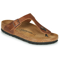 Shoes Women Flip flops Birkenstock GIZEH LEATHER Antique / Brown