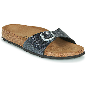Shoes Women Mules Birkenstock MADRID Black / Silver