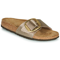 Shoes Women Mules Birkenstock MADRID BIG BUCKLE Graceful / Taupe / Bronze