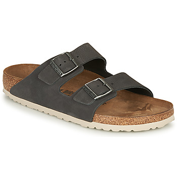 Shoes Men Mules Birkenstock ARIZONA LEATHER Grey / Dark