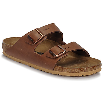 Shoes Men Mules Birkenstock ARIZONA LEATHER Antique / Pull / Expresso