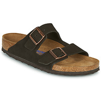 Shoes Men Mules Birkenstock ARIZONA SFB LEATHER Brown