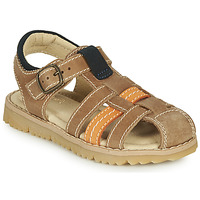 Shoes Boy Sandals André LEOPAUL Brown