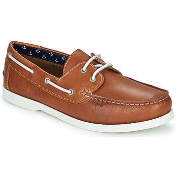 Shoes Men Boat shoes André NAUTING Camel
