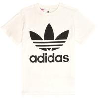 material Children short-sleeved t-shirts adidas Originals SARAH White