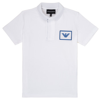 material Boy short-sleeved polo shirts Emporio Armani Aime White
