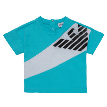 material Boy short-sleeved t-shirts Emporio Armani Alois Blue / White