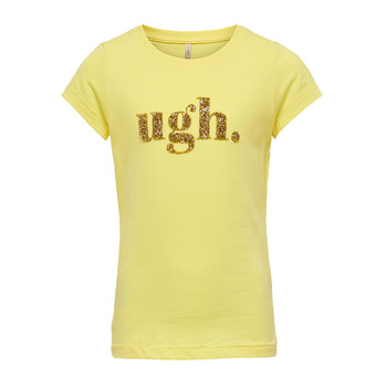material Girl short-sleeved t-shirts Only KONJULLA Yellow