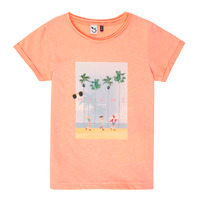 material Girl short-sleeved t-shirts 3 Pommes LEA Orange