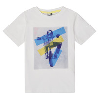 material Boy short-sleeved t-shirts 3 Pommes ONDINE White
