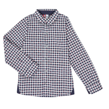 material Boy long-sleeved shirts 3 Pommes MANUELA Marine