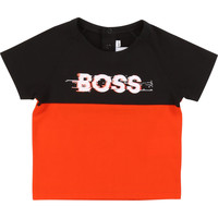 material Boy short-sleeved t-shirts BOSS WISTISH Black / Red