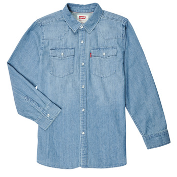 material Boy long-sleeved shirts Levi's BARSTOW WESTERN SHIRT Blue