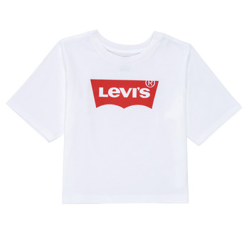 material Girl short-sleeved t-shirts Levi's LIGHT BRIGHT HIGH RISE TOP White