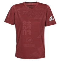 material Men short-sleeved t-shirts adidas Performance DAILY PRESS TEE Red
