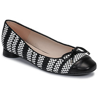 Shoes Women Ballerinas Fericelli MARYA Black / Et  / White