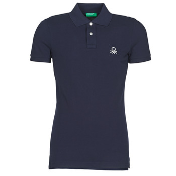 material Men short-sleeved polo shirts Benetton MARAKY Marine