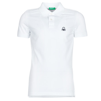 material Men short-sleeved polo shirts Benetton PONI White