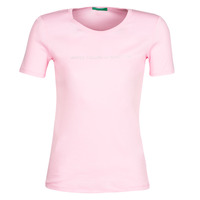 material Women short-sleeved t-shirts Benetton DOLORES Pink