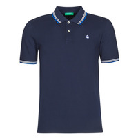 material Men short-sleeved polo shirts Benetton DAVID Marine