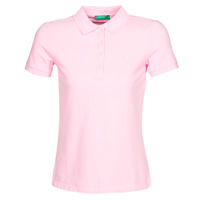 material Women short-sleeved polo shirts Benetton SOAN Pink