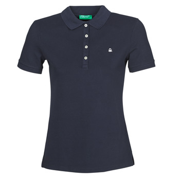 material Women short-sleeved polo shirts Benetton MANITE Marine