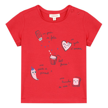 material Girl short-sleeved t-shirts Catimini MUSIKOU Red