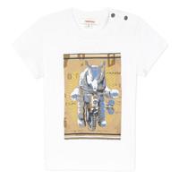material Boy short-sleeved t-shirts Catimini LARIBI White